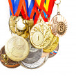 Stock Photo: Sports Medal. Photos isolated on white background