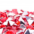 Small red crystals — Stock Photo