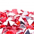 Small red crystals - Stock Photo