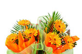 Floral bouquet gerbera — Stock Photo