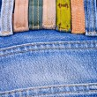 The label on the jeans — Stock Photo
