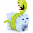 Computer Worm — Stock Vector