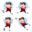Soccer Hero in Action — Stock Vector