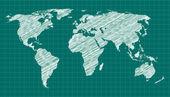 World Map Sketch — Stock Vector