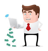 Making Money Online — Stock Vector