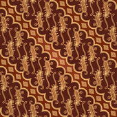 Seamless Batik Pattern — Stock Vector