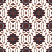 Seamless Batik Pattern — Stock Vector
