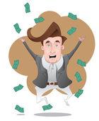 Rich Eccentric Man — Stock Vector