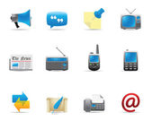 Web Icons - More Communication — Vettoriale Stock