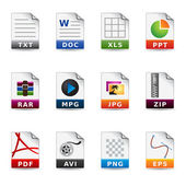 Web Icons - File Formats — Stock Vector