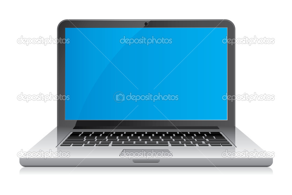 Clean and simple laptop illustration.  Fully editable EPS file format.  — Stock Vector #8169644