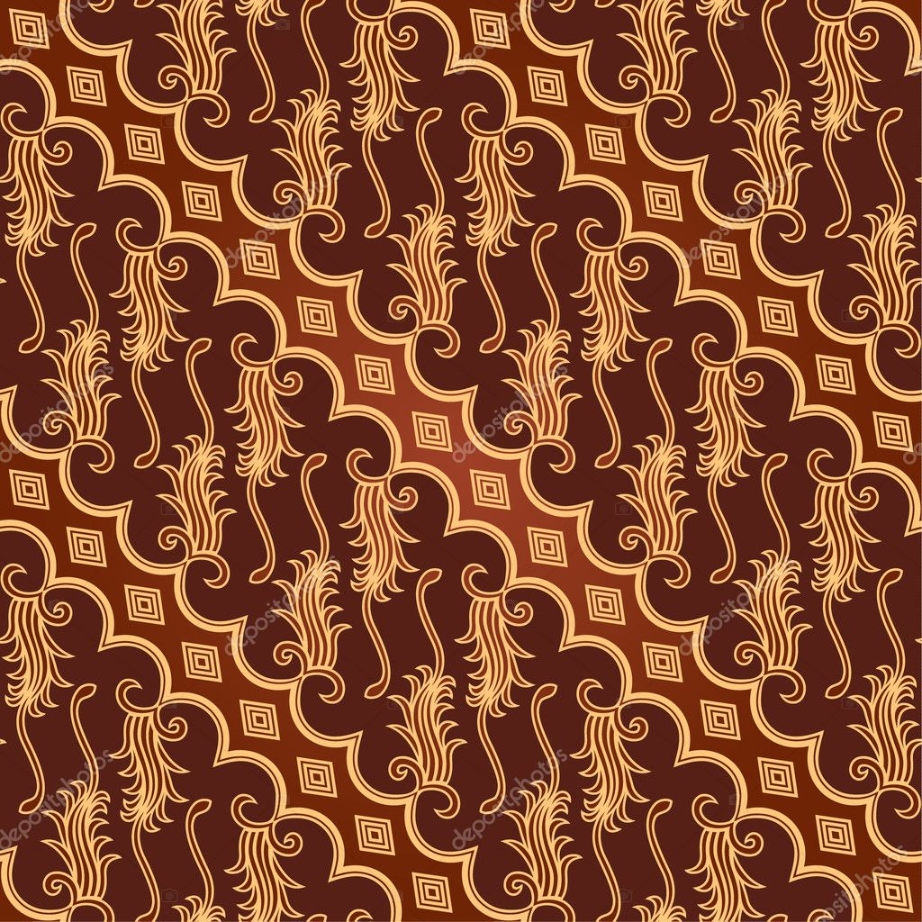 Seamless Batik Pattern — Stock Vector © puruan #8169654