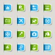 Label - Hotel icons — Vector de stock #10174647