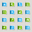 Label - Hotel icons — Stockvector #10174647