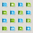 Vector de stock : Label - Vacation icons