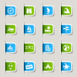 Label - Vacation icons - Imagen vectorial