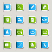 Label - Office and Business Web icons — Stock Vector