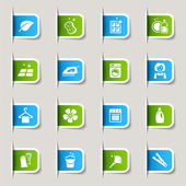 Label - reinigung web-icons — Stockvektor