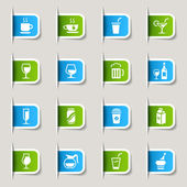Label - Drink Web Icons — Stock Vector