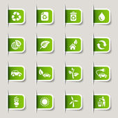 Label - ecologische web iconen — Stockvector