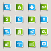 Label - Finance icons — Stock Vector