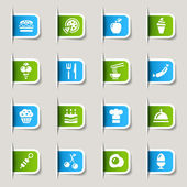 Label - Food Icons — Stock Vector