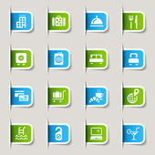 Label - Hotel icons — Stockvector