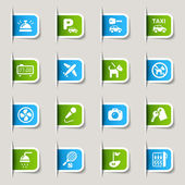 Label - Hotel icons — Stockvektor