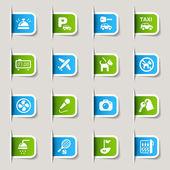Label - hotel pictogrammen — Stockvector