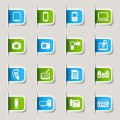Label - Media Icons — Stock Vector