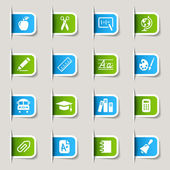 Label - School Icons — Stock Vector