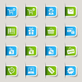 Label - shopping icons — Stockvektor