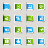 Label - Shopping icons — Vector de stock