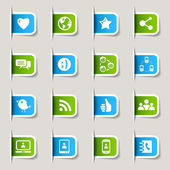 Label - Social media icons — Stock Vector