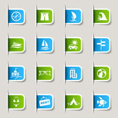 Label - Vacation icons — Stockvector