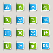 Label - Warning icons — Stock Vector