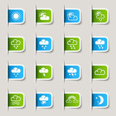 Label - Weather icons — Stock Vector