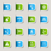 Label- Weather Icons — Stock Vector