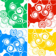 Stock Vector: Set of swirly banners