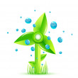 Vector green windmill concept — Stock Vector
