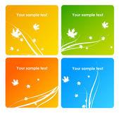 Vector orange autumn background — Stock Vector