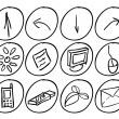 Royalty-Free Stock Vector Image: Hand drawn techno icons