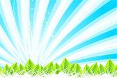Green nature leaf concept — Vector de stock