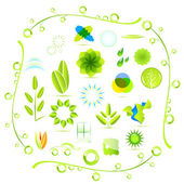 Vector eco nature icons — Stock Vector