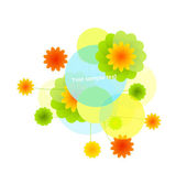 Vector flower background — Stock Vector