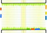 Green nature notebook — Stock Vector
