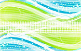 Green wave background — Stock Vector