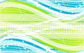 Fundo de onda verde — Vetorial Stock