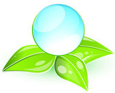 Global leaf green concept — Stock Vector
