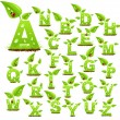 Nature alphabet - Stock Vector